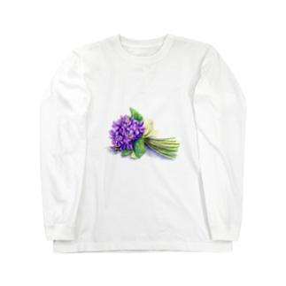 スミレの花束 ロングスリーブTシャツ