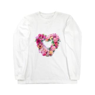 ハート形のリース ロングスリーブTシャツ