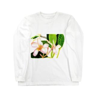 夏の花 ロングスリーブTシャツ