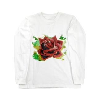 ばら2 ロングスリーブTシャツ
