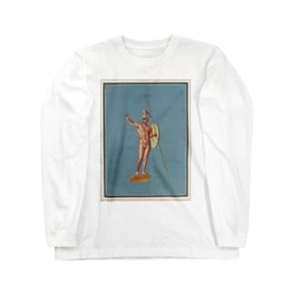 ポンペイ遺跡 裸の戦士 Long sleeve T-shirts