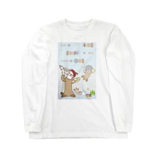 ラッコ+画伯 Long sleeve T-shirts