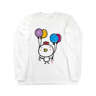 にわとりひよさん Long sleeve T-shirts