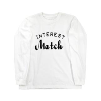 INTEREST Match  Long sleeve T-shirts