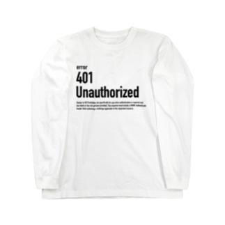 401 Unauthorized Long sleeve T-shirts