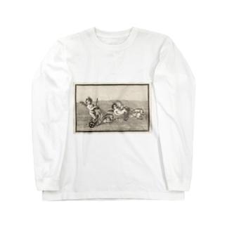 天使のイルカ車レース Long sleeve T-shirts