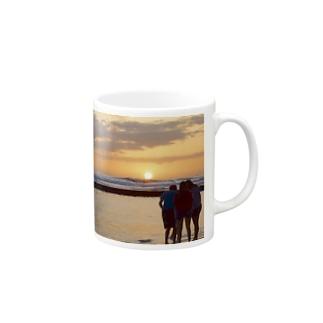 sun set Mugs