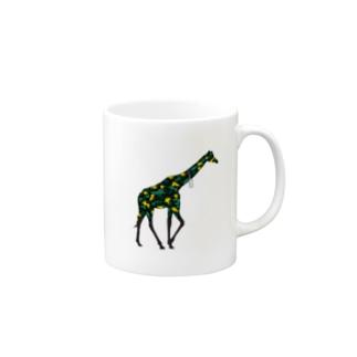 akijiparade_giraffe マグカップ