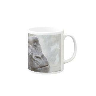 sleeping gorilla Mugs