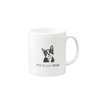 リオ・リーバスのP.S. I Love Dogs(クライング・ドッグ) Mugs