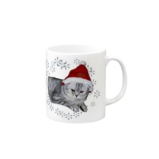 クリスマス猫 Mugs