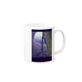 水たまりの電柱 Mugs