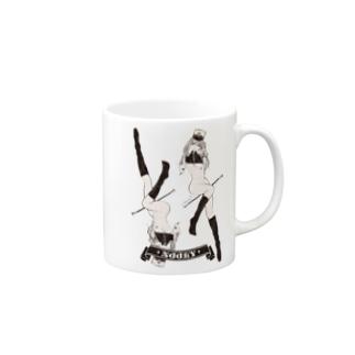 NOOKY ツインテール ガールプリント Mugs
