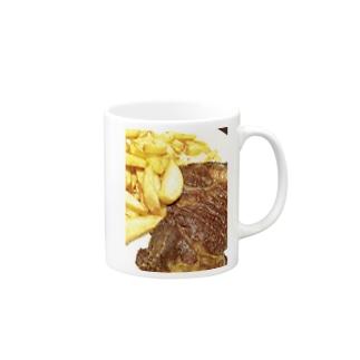 ステーキステキ Mugs