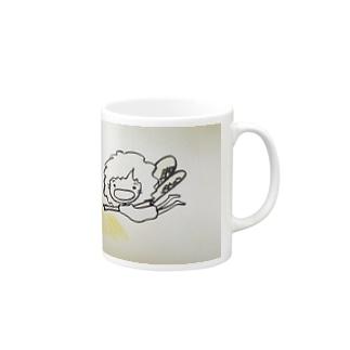 飛んでるおかん妖精 マグカップ