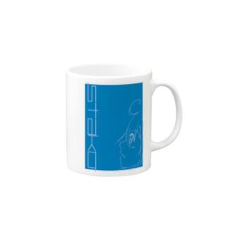 スタ子ブルー Mugs