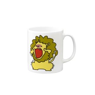 らいおん ガクブル Mugs