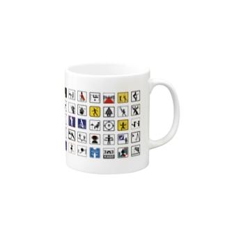 カネダ・オリジナルピクトグラム Mugs
