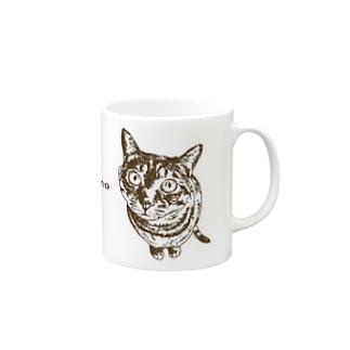 ご飯まだ?(cappuccino焦げ茶ver.) Mugs