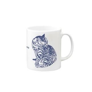 お風呂のあと(frappuccino青ver.) マグカップ
