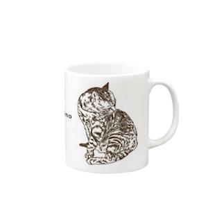 お風呂のあと(frappuccino焦げ茶ver.) マグカップ