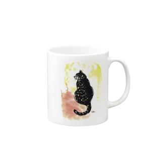 ふり向く猫 Mugs