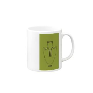 かえるとび_green Mugs