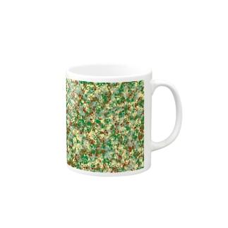 Camouflage(Cat's Footmark) Mugs