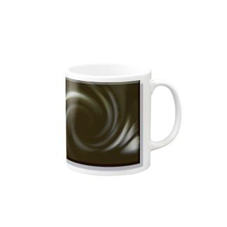 電磁波カット/宇宙効果SpaceArt「音なき世界」 マグカップ