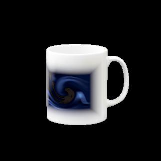 宇宙の贈りもの★YasueUenishiの電磁波カット/宇宙効果SpaceArt「ミステリー宇宙」 マグカップ