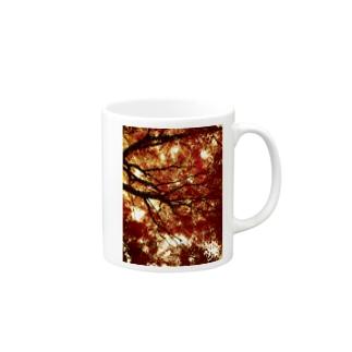 赤と黒のイメージ01 Mugs