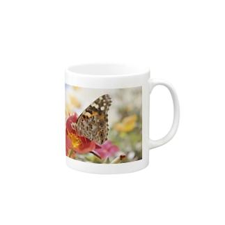 花と蝶 Mugs