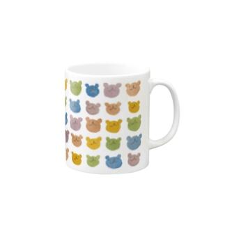 カラフルウゲロくま Mugs
