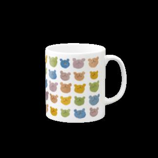 素材屋405番地のカラフルウゲロくまマグカップ