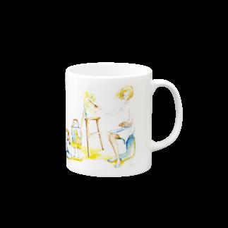 N.S. urelaのLet's art ! その1&2 Mugs