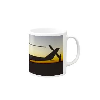 COBRA HELICOPTER AT SUNRISE Mugs