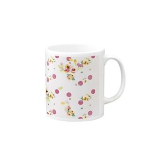 Ellieのsweet flower Mugs