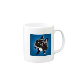 フレンチブル(青) Mugs