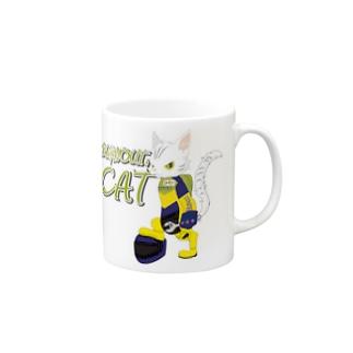 BURNOUT. CAT Mugs