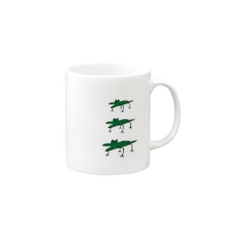 わに3連 Mugs