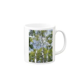 white birch Mugs