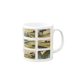 広重-3 Mugs