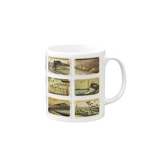 広重-5 Mugs