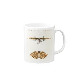18世紀の飛行機 マグカップ