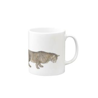 忍び寄る猫のマグ  マグカップ