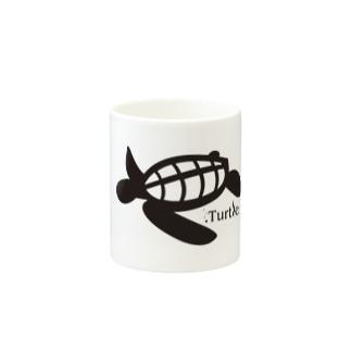 Turtle-Black Mugs