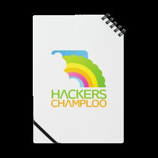 ハッカーズチャンプルーのハッカーズチャンプルーロゴ(正方形)ノート