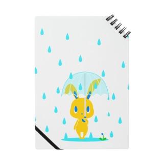 雨の日うさぎ ノート