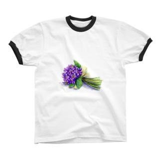 スミレの花束 リンガーTシャツ