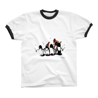 Carnival of penguins リンガーTシャツ